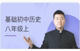 初中历史八年级上-基础同步视频课程(丁子江)90讲